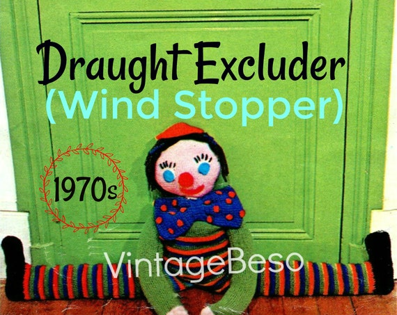 EASY Boy Draught Excluder Pattern • Knitting + Crochet Pattern • Wind Stopper • Draft Stopper Wind Stopper Clown Doll • Watermarked PDF Only
