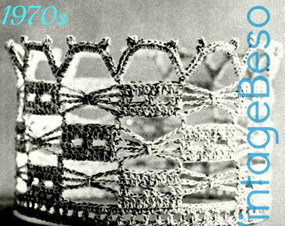 Crown Vintage Crochet Pattern 1970s • Bride Trellis • Bridal Tiara • Brides Crown Wedding Cake Topper + FReE PAttERN • Watermarked PDF Only