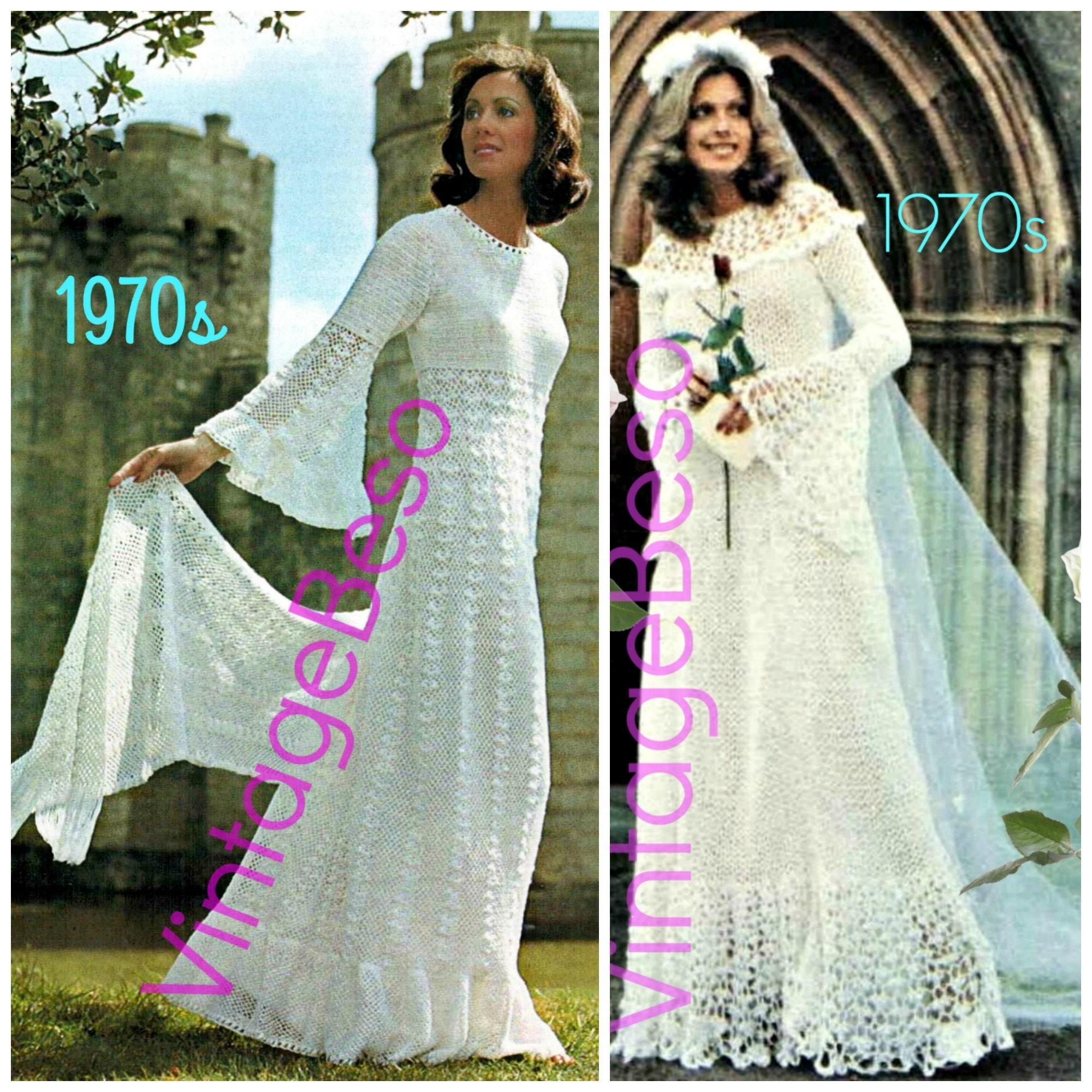 2 Medieval Wedding Dress Crochet Pattern Sweeping Stole
