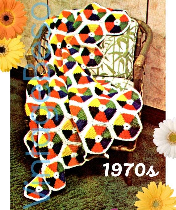 Color Wheel Afghan Crochet Pattern Instant Download Pdf Etsy