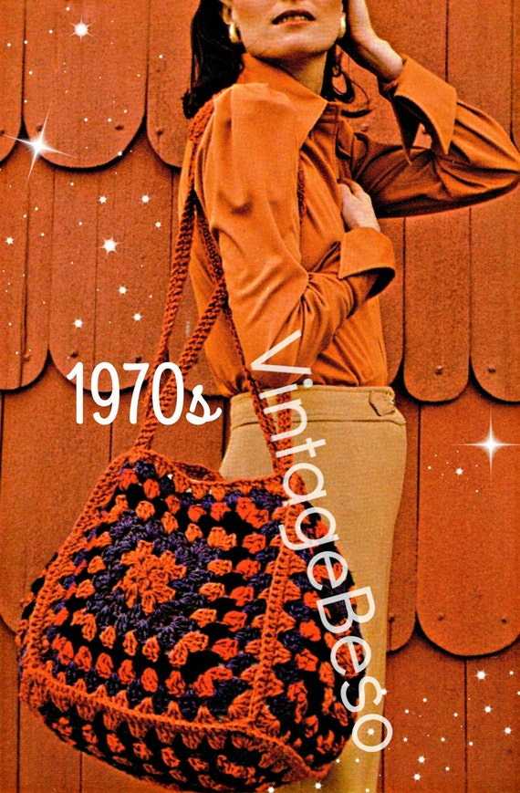 Bag Crochet Pattern Free Pattern 70s Hold Everything Pouch Etsy