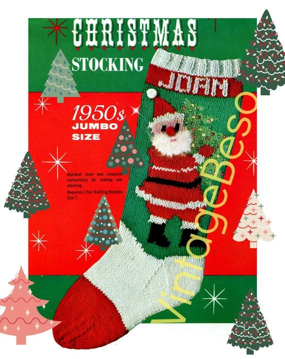 Classic Christmas Knitting Pattern STOCKING Pattern Etsy Magnificent Christmas Knitting Patterns