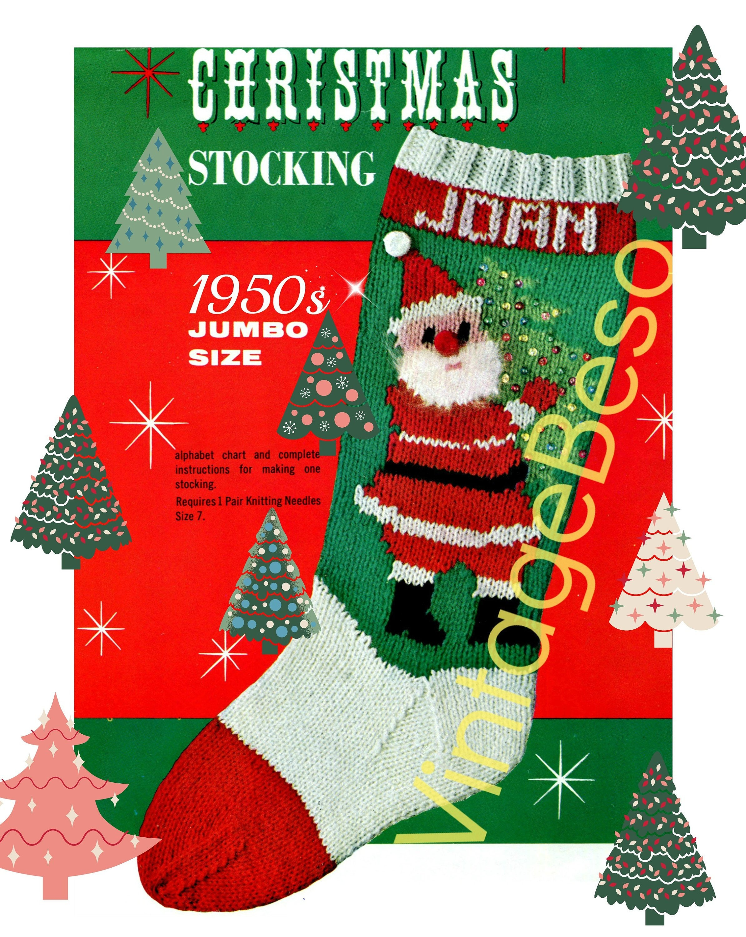 f716169fbea Classic Christmas Knitting Pattern • STOCKING Pattern • Bucilla ...