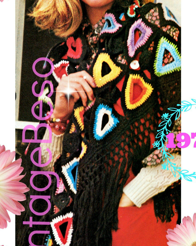 Digital Pattern Shawl Crochet Pattern Ladies Open Triangle Shawl