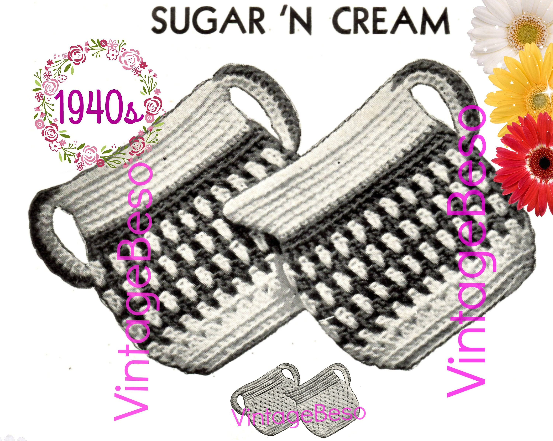 World Famous Retro Sugar N Cream Potholder Set Fiesta Sugar And