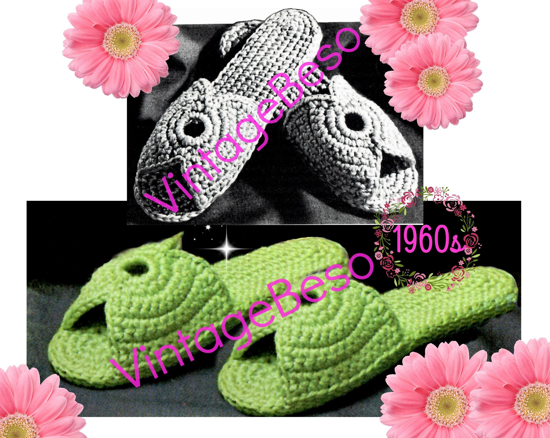 Digital Pattern Slippers Crochet Pattern Womens Scuffs