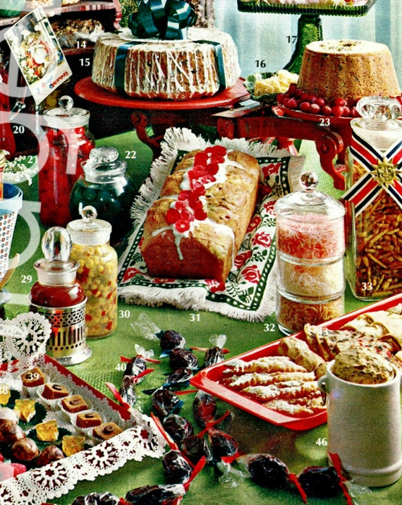 46 Recipes • Vintage RECIPES • 1960s Christmas GIFTS from Your Kitchen • Holiday Delights • Collector's Cook Book • Instant Download • PDF
