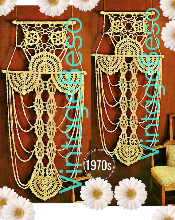 Wall Hanging CROCHET Pattern • 1970s Vintage Mail Order Only • Rare and Hard to Find • Instant PDF •  Lovingly ENLARGED Print and Diagrams