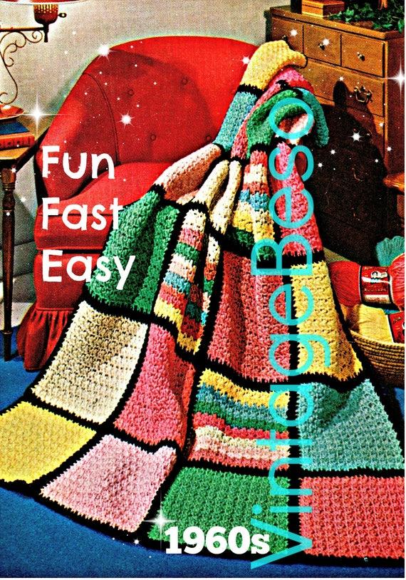 Afghan Crochet Pattern Beginner Quick Easy Crochet Pattern Etsy