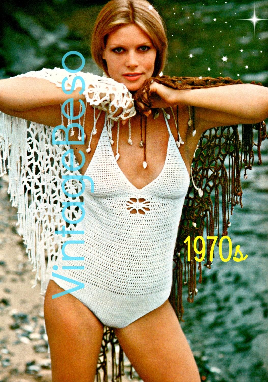 96f64a05de4 2 PATTERNS Ladies Swimsuit Crochet Pattern 70s Maillot Womens ...