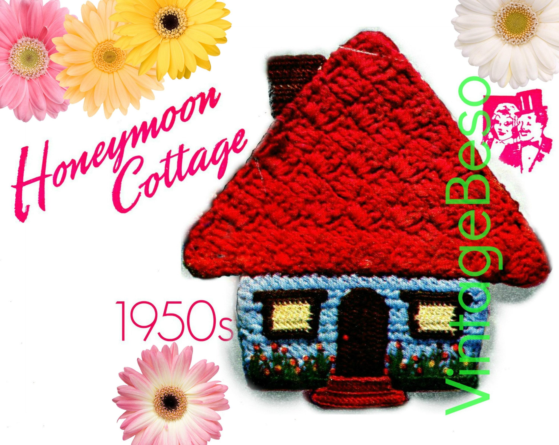 Honeymoon Cottage Potholder Crochet Pattern Pdf Pattern Etsy