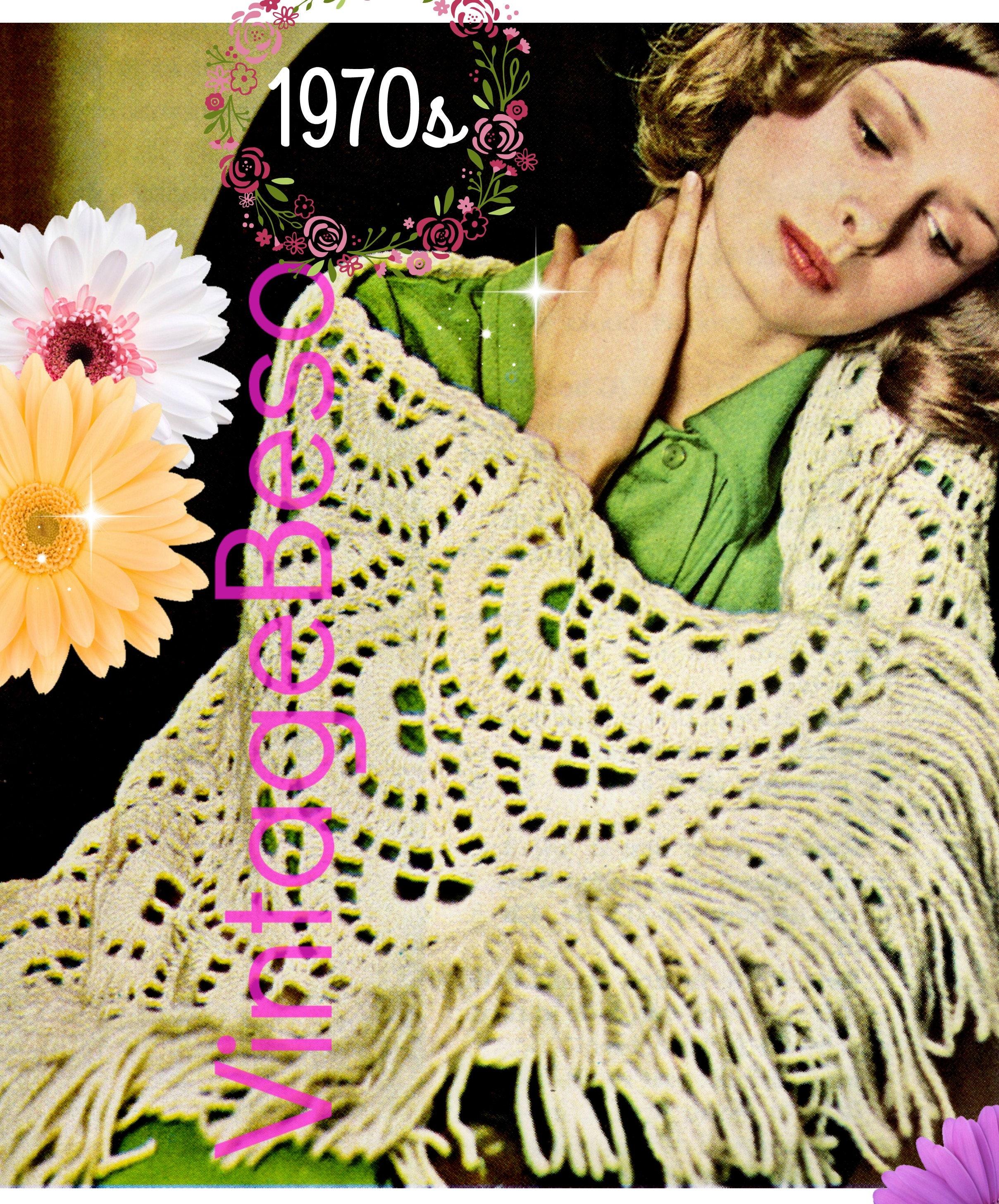 Shawl Crochet Pattern Pdf Pattern Feminine Scallop Shawl Boho