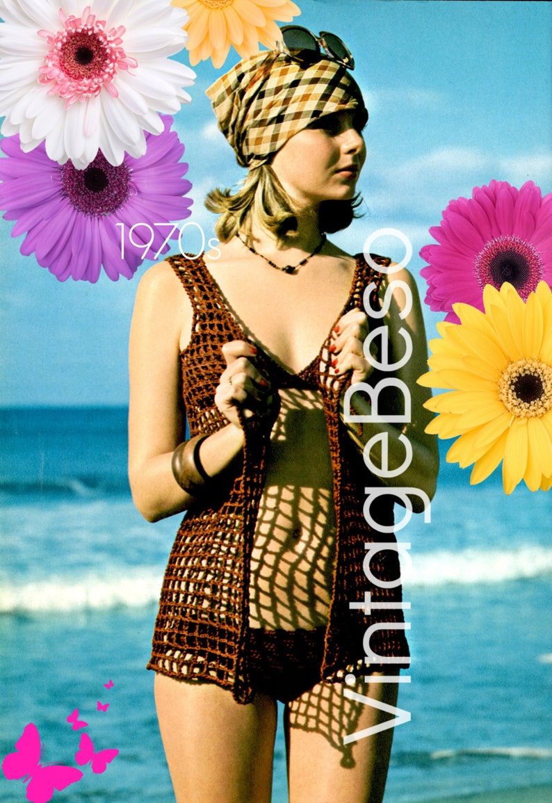 INSTANT DOWNlOAD  PdF Pattern  Beach Cover Up CROCHET image 0