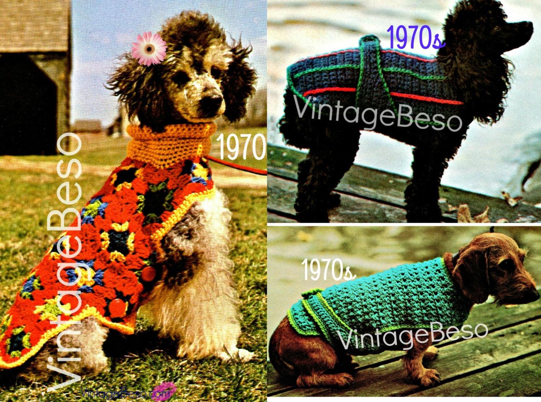 Three 3 Dog Crochet Patterns Instant Download Pdf Dog