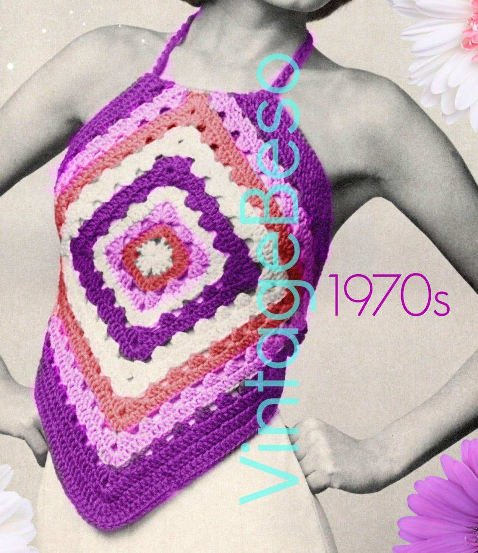 Easy Halter Top Crochet Pattern Vintage Easy Granny Square