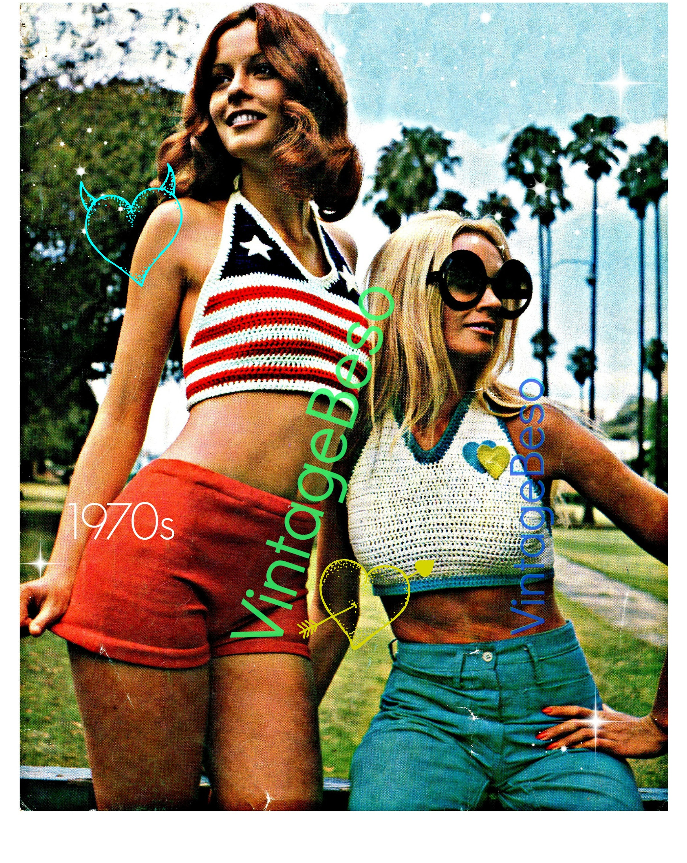 Instant Download 3 Patterns Halter Top Crochet Pattern Knitted ...