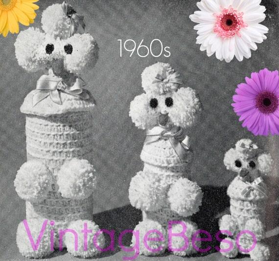 Retro 1960s PARTY Gift Poodle Liquor Bottle Cover Crochet Pattern Dog Pattern • Vintage Crochet Pattern • Instant Download • PDF Pattern
