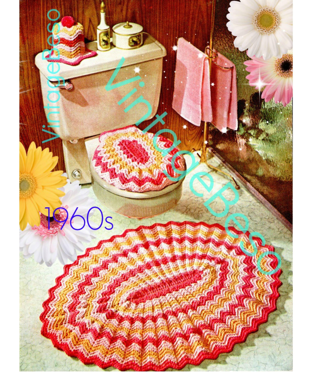 Swell Rug Crochet Pattern Pdf Pattern Retro 1960S Bathroom Theyellowbook Wood Chair Design Ideas Theyellowbookinfo