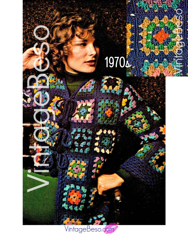 Instant Download Pdf Pattern Jacket Crochet Pattern Vintage