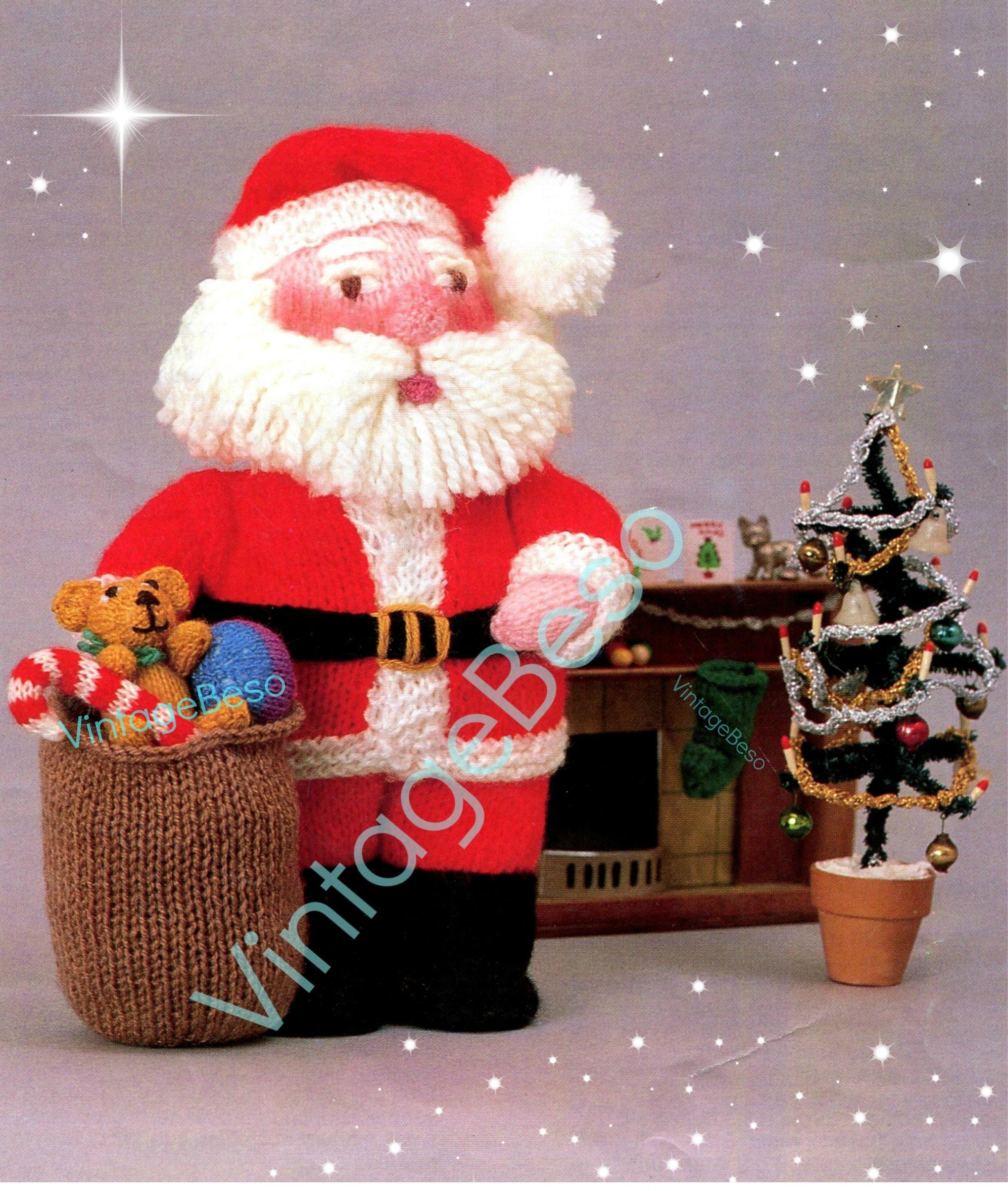 Knit Christmas Santa And Gifts Knitting Pattern Pdf Pattern