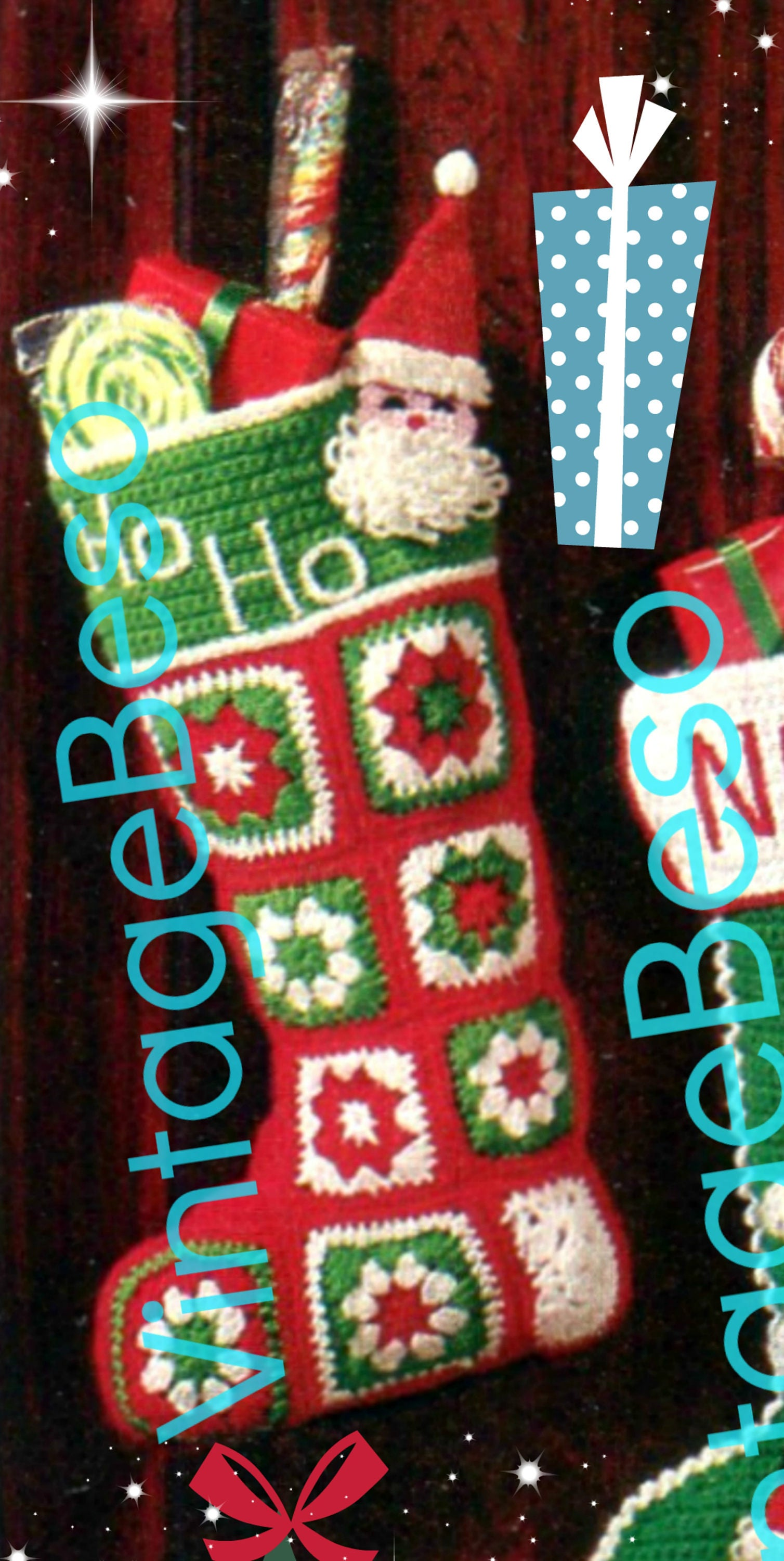 3 Patterns Santa Christmas Stocking Easy To Make 2