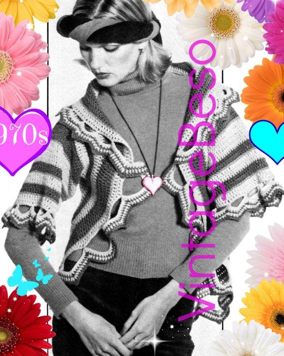 Circle Jacket Crochet Pattern • Vintage 1970s Crochet Pattern Romantic Circle Jacket Feminine Ladies Boho • INSTANT Download • PDF Pattern