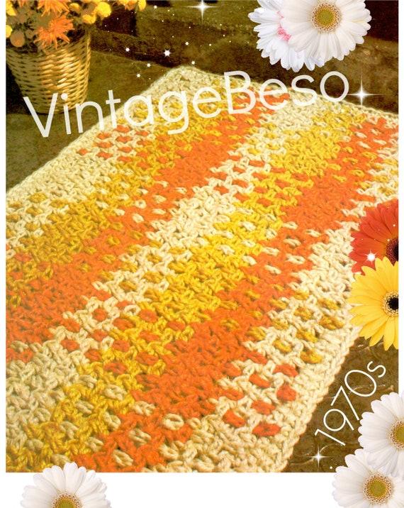 Rug Crochet Pattern • Vintage 1970s JUTE Woven Rug Crochet Pattern • Feel of Macrame Mat • Instant Download • PdF Pattern • Unique Pattern