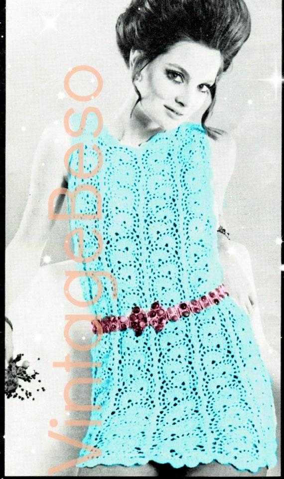 INSTANT DOWNlOAD • PdF Pattern • MOD DRESS Crochet Pattern Vintage 70s • Dress Crochet Pattern Ladies Retro • Dress Pattern