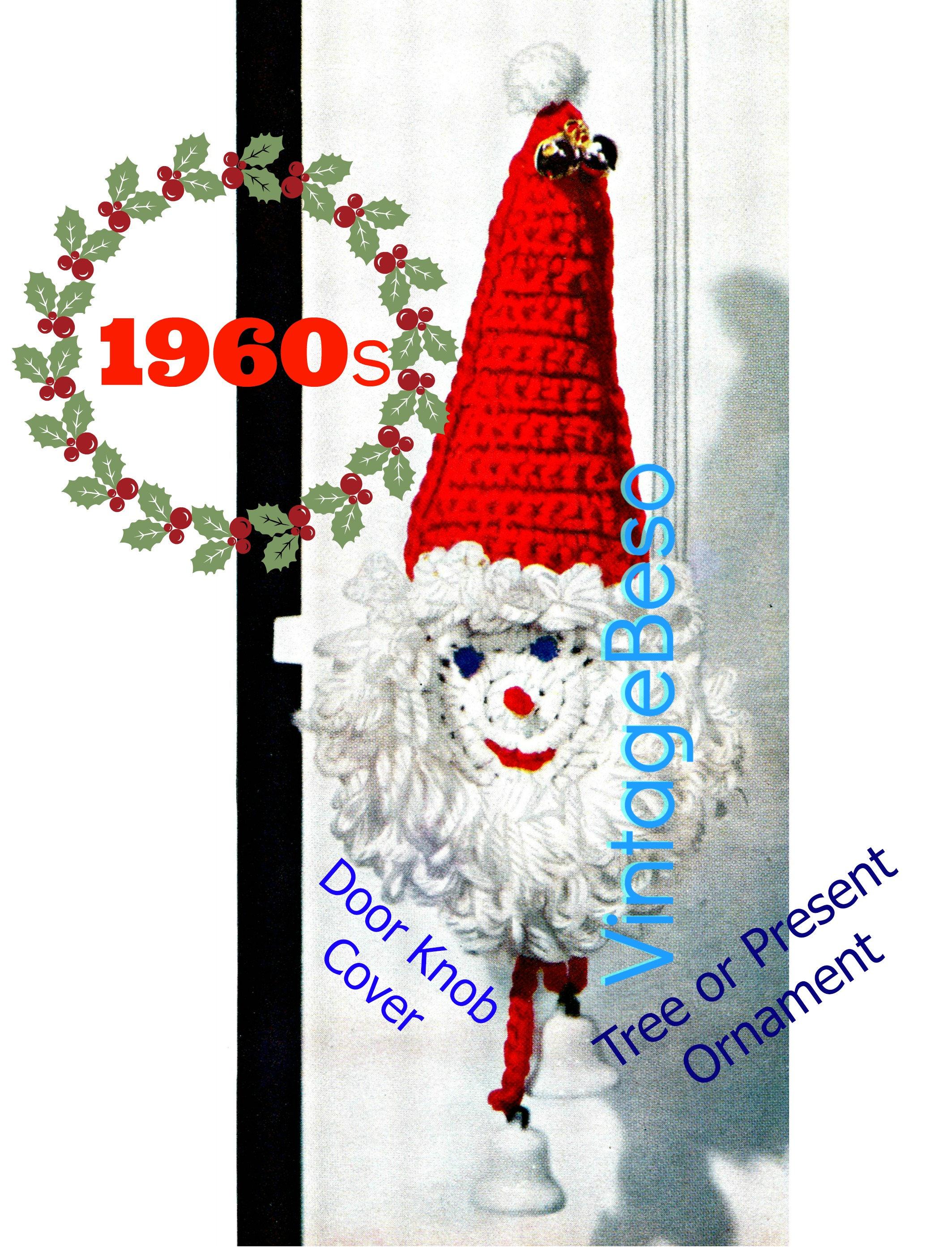 Santa Crochet Pattern • Instant Download • Vintage 1960s Santa Door ...