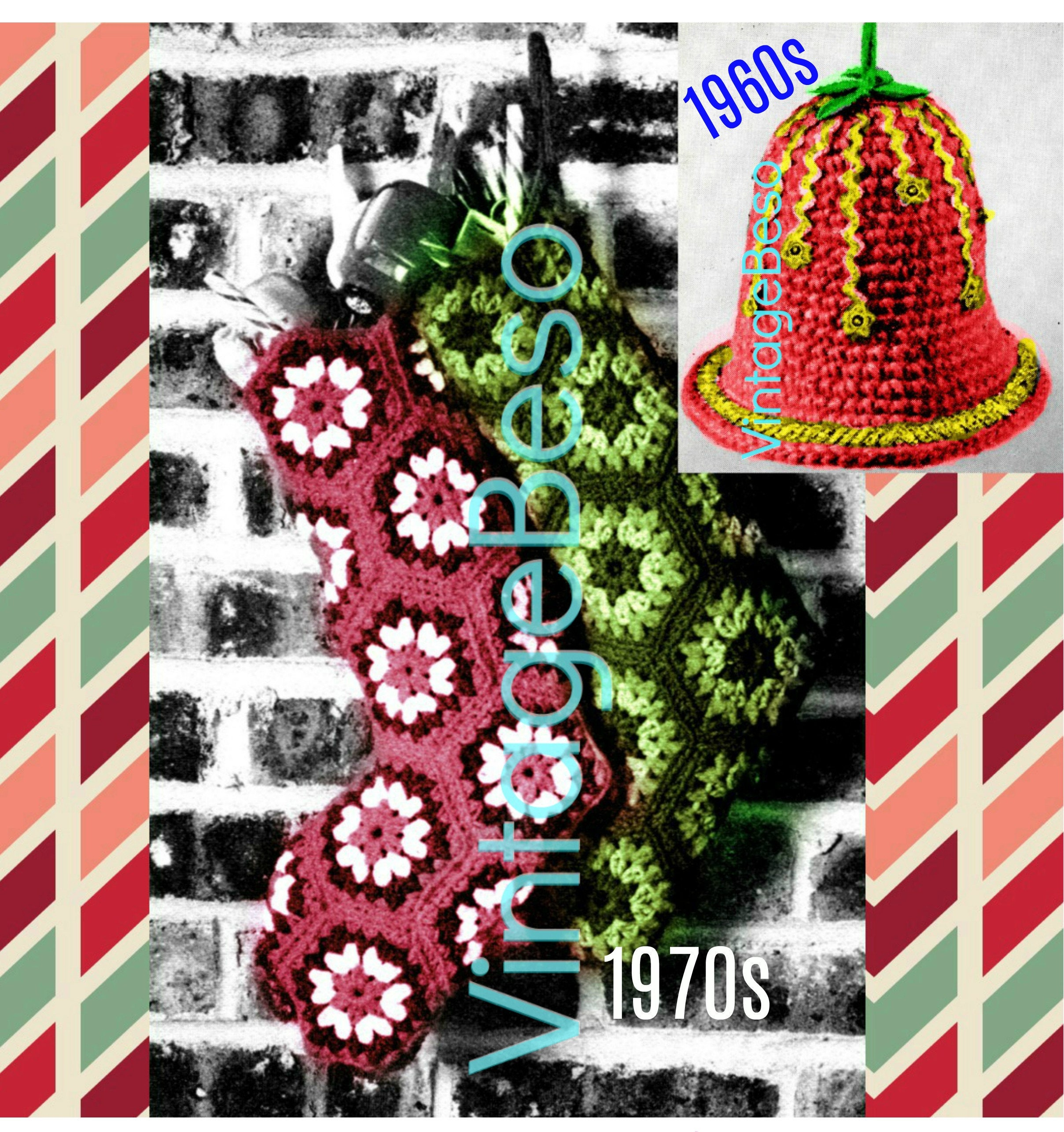 1970'S Christmas Stocking Crochet Pattern Simple Inspiration