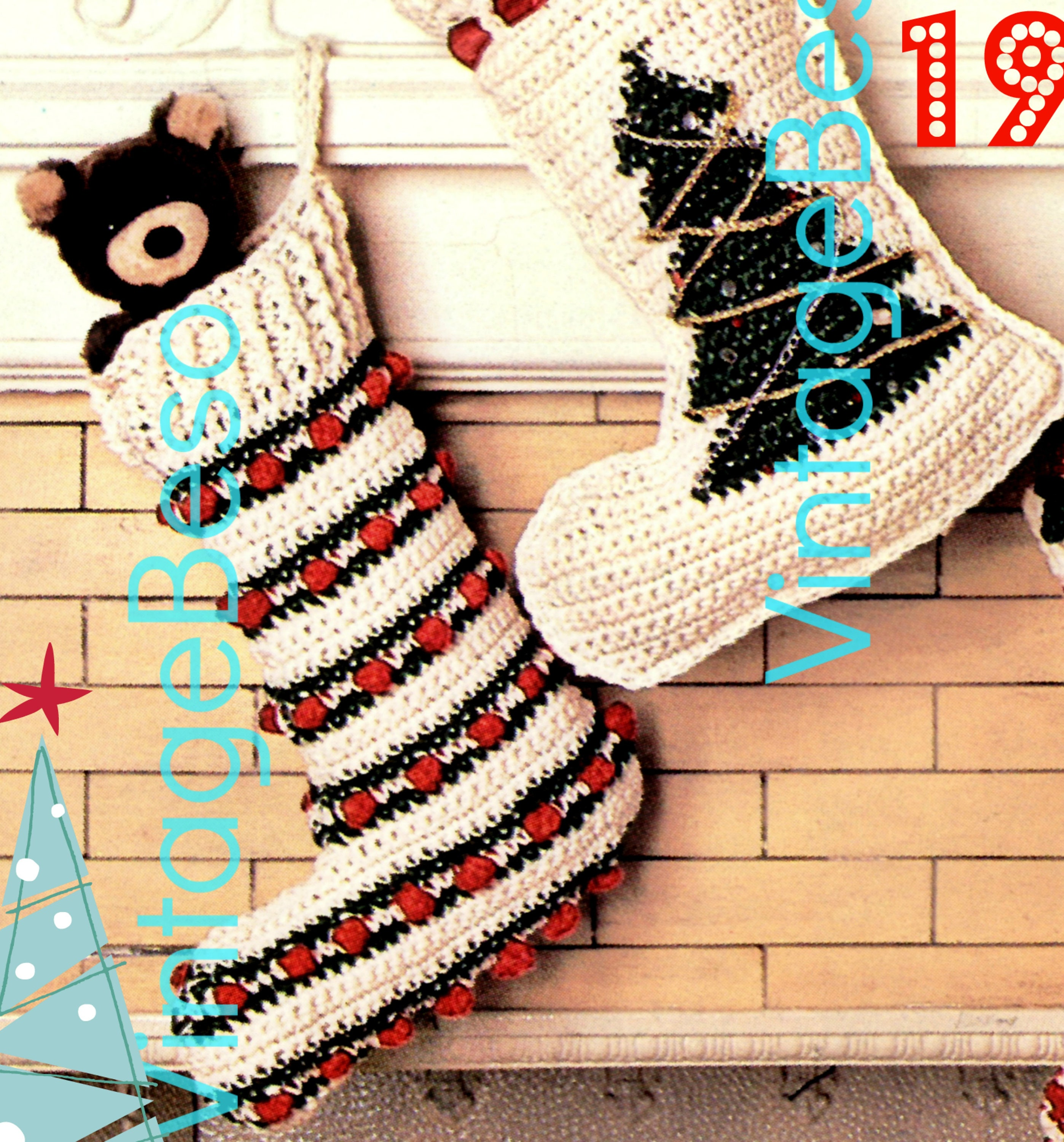 1970'S Christmas Stocking Crochet Pattern Cool Design Ideas