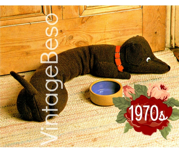 Wind Stopper KNITTING Pattern • Draught Excluder • Doggie Door Draft Stopper • Helps Stop Wind Door or Window • Watermarked PDF Only