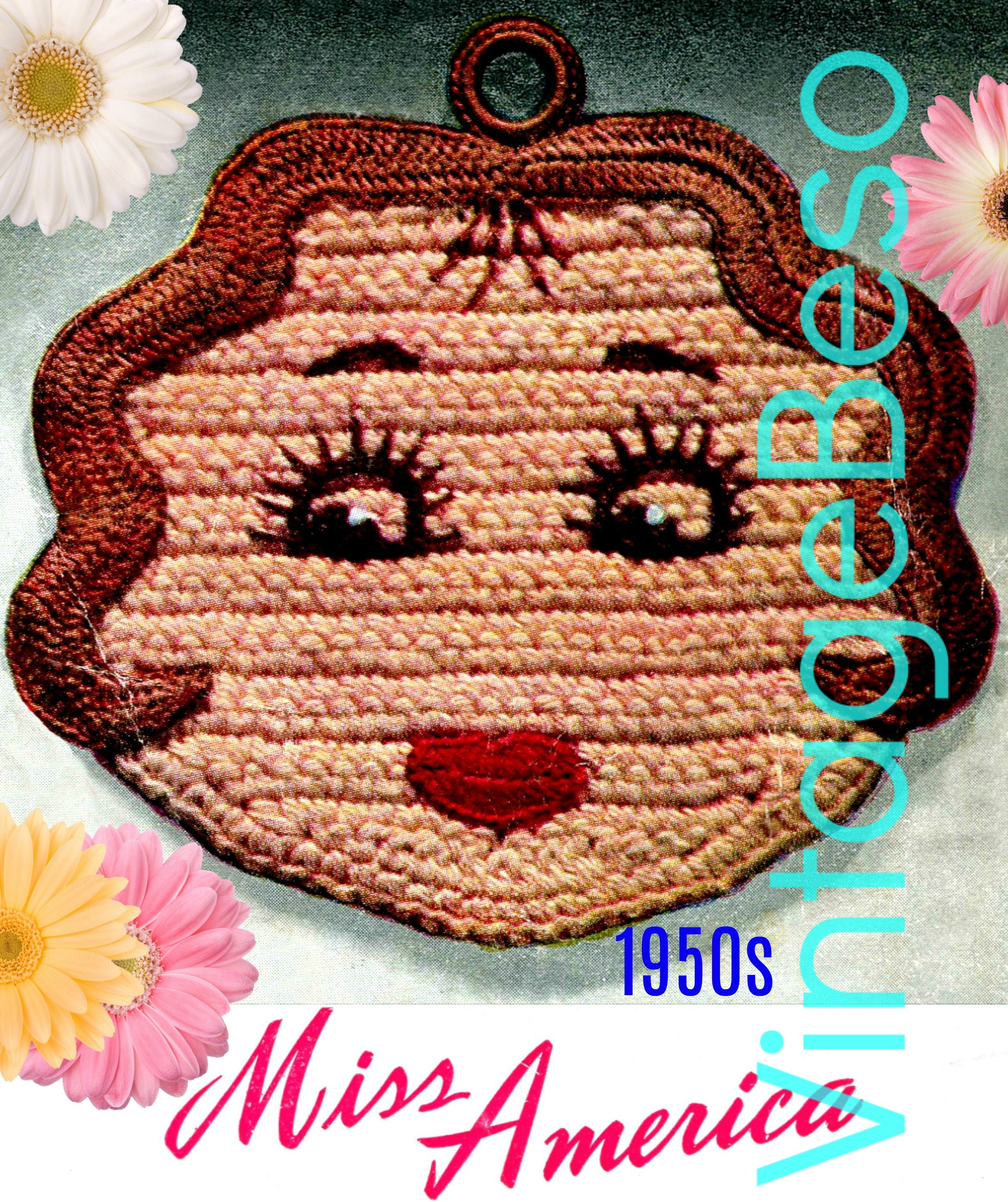 Miss America Potholder Crochet Pattern Pdf Pattern Vintage Etsy