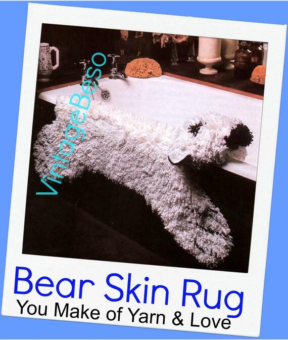 INSTANT DOWNlOAD PdF Pattern Bear Rug Crochet Pattern