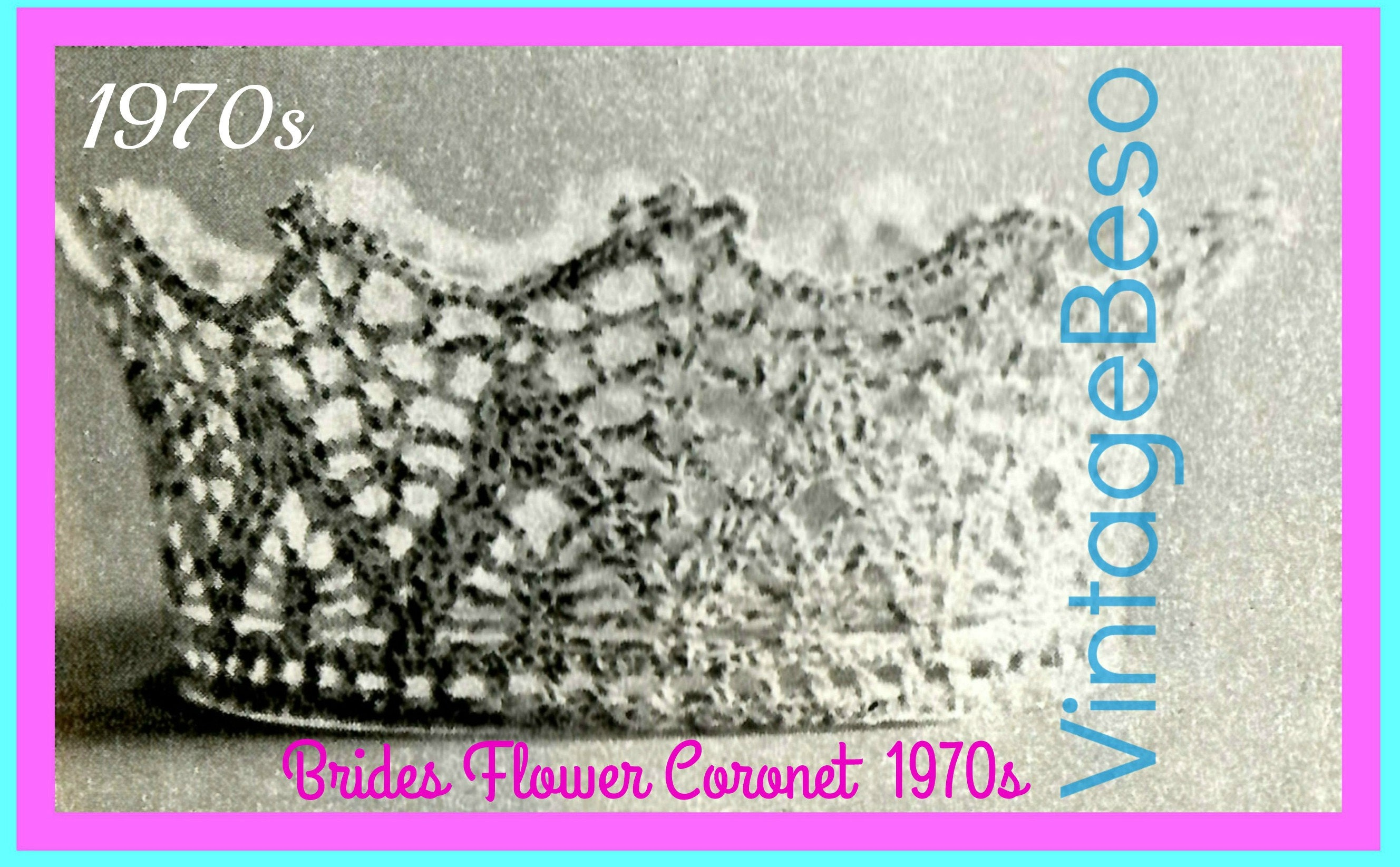 Instant Download Pdf Pattern Crown Vintage Crochet Pattern