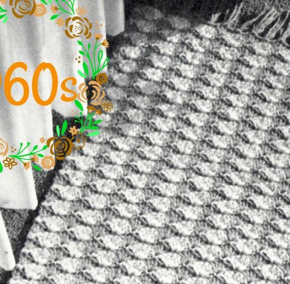 Easy Rug Crochet Pattern 1960s Vintage Shell Rug Boho Etsy