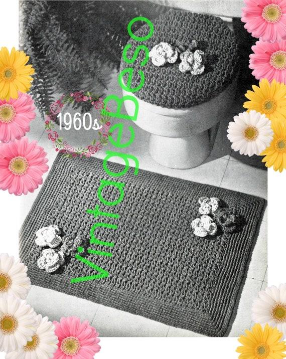 Super Rug Crochet Pattern Lid Cover Crochet Pattern Pdf Retro 1960S Bathroom Set Toilet Seat Lid Cover Crochet Pattern Rug Pattern Theyellowbook Wood Chair Design Ideas Theyellowbookinfo