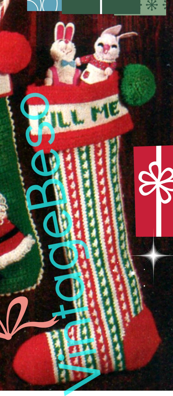 3 Patterns Santa Christmas Stocking Easy To Make 2