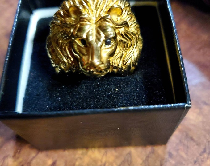 Heart of a Lion Ring 24k gold
