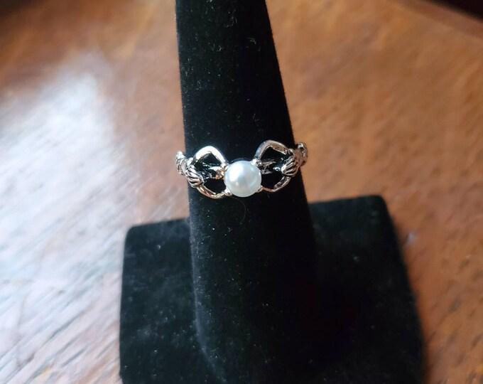 Mermaid solitaire ring