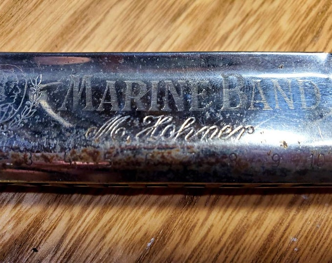 M. Hohner Marine Band A440 1896 Classic Harmonica - Key of C