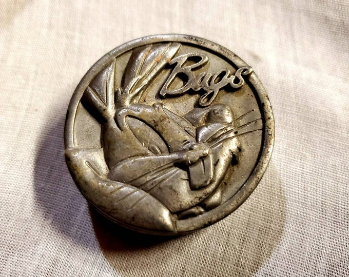 Bugs Bunny round pewter box