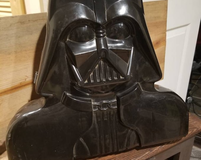 Original Darth Vader Vintage carrying case 1980 for action figures Star Wars helmet