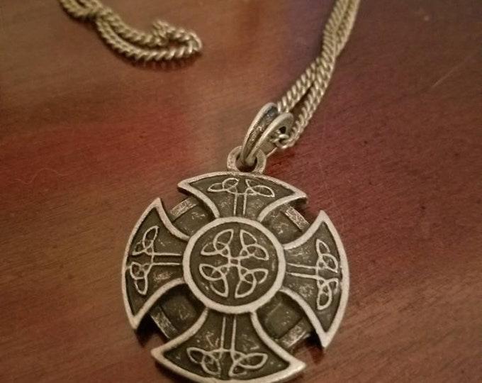 Celtic sheild necklace