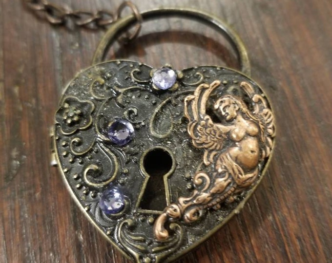 Love Angel locket keychain