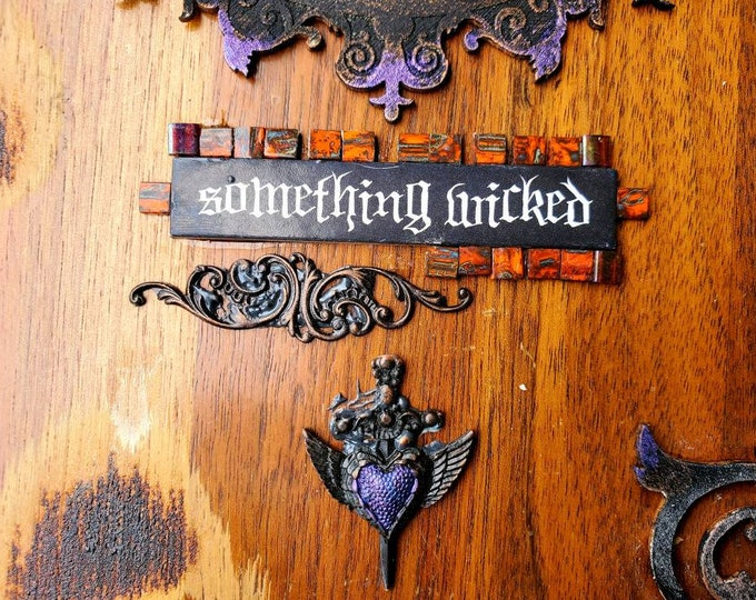 Something Wicked large wooden box hand made and designed with Fairy centered theme.