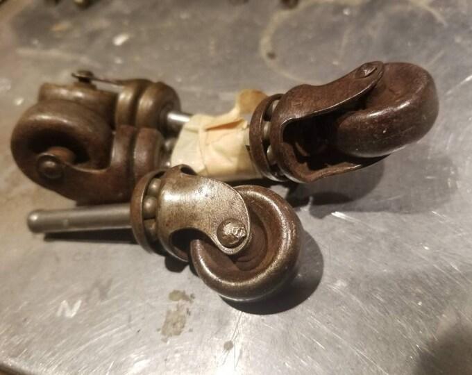 All metal vintage furniture wheels