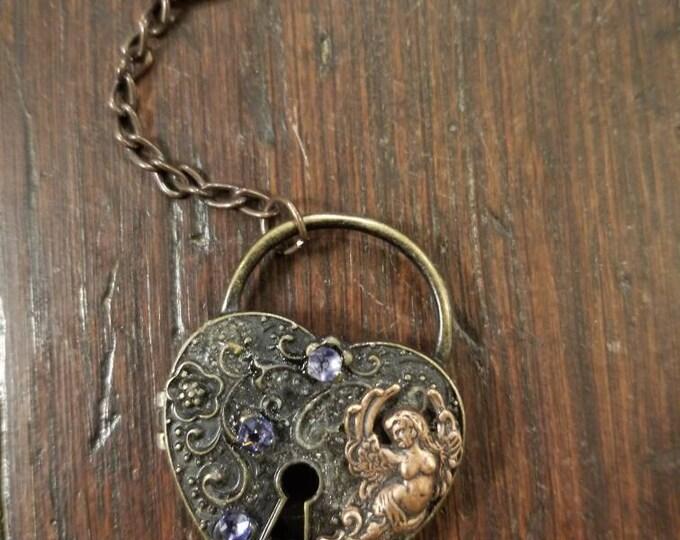 Love Angel locket keychain