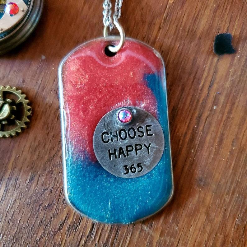 Choose Happy dog tag