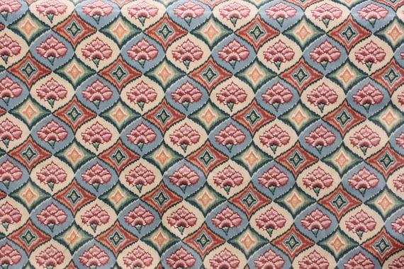 Cubierta de tela Vintage tela Ikat impresión de algodón para   Etsy